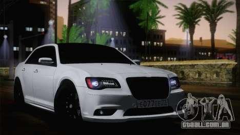 Chrysler 300 SRT8 Black Vapor Edition para GTA San Andreas traseira esquerda vista