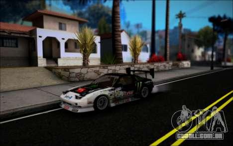 Nissan 240SX Monster Energy para GTA San Andreas esquerda vista