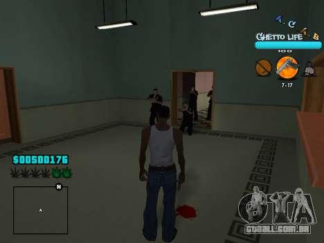 C-HUD new A.C.A.B para GTA San Andreas quinto tela