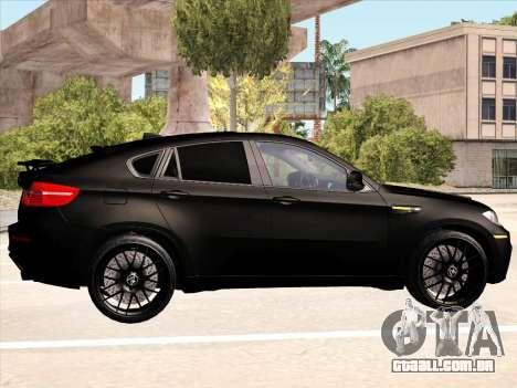 BMW X6 Hamann para GTA San Andreas interior