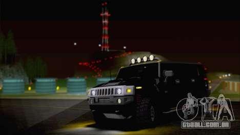 Hummer H2 Tunable para GTA San Andreas vista superior