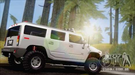 Hummer H2 Tunable para GTA San Andreas esquerda vista