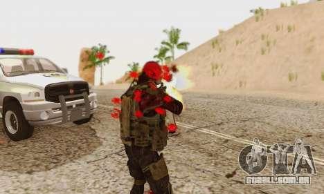 Blood On Screen para GTA San Andreas oitavo tela