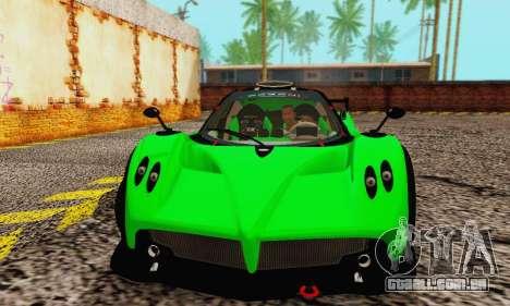 Pagani Zonda Type R Green para GTA San Andreas esquerda vista