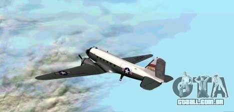 C-47 Dakota USAF para GTA San Andreas vista direita
