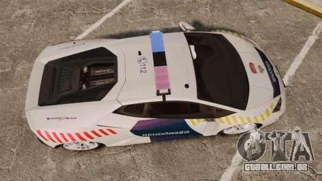 Lamborghini Huracan Hungarian Police [ELS] para GTA 4 vista direita
