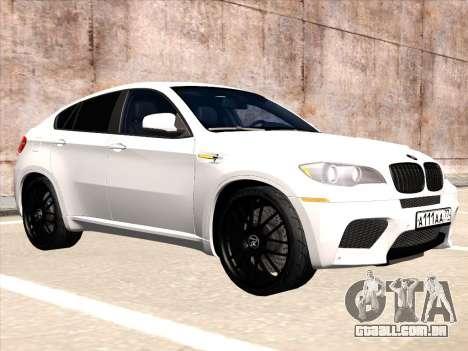 BMW X6 Hamann para GTA San Andreas traseira esquerda vista
