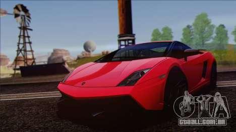 Lamborghini Gallardo LP570-4 Edizione Tecnica para GTA San Andreas vista traseira