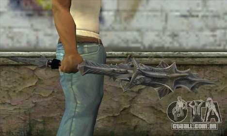 Daedric Sword para GTA San Andreas terceira tela