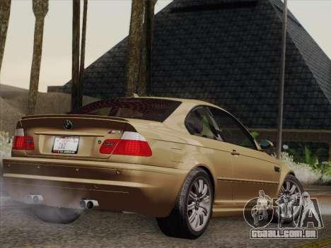 BMW M3 E46 2005 para GTA San Andreas vista direita