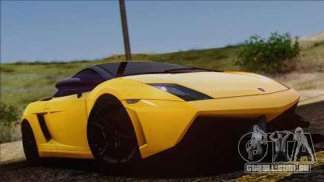Lamborghini Gallardo LP570-4 Edizione Tecnica para vista lateral GTA San Andreas