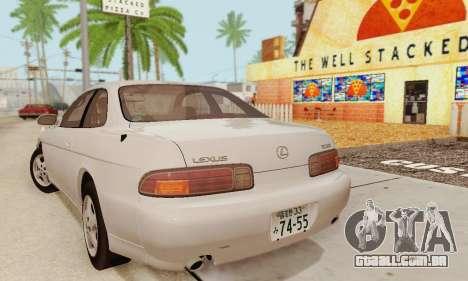 Lexus SC300 v1.01 [ImVehFT] para GTA San Andreas traseira esquerda vista