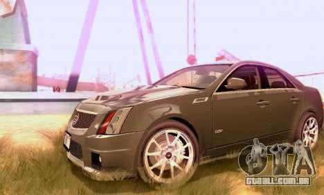 Cadillac CTS-V Sedan 2009-2014 para GTA San Andreas vista traseira
