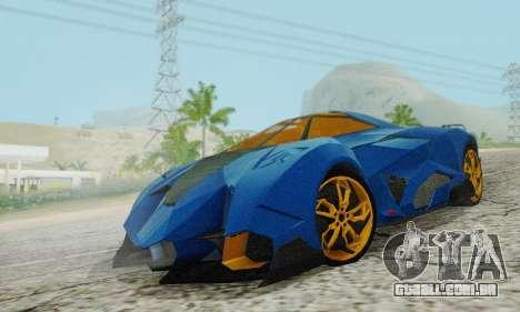 Lamborghini Egoista para GTA San Andreas vista traseira