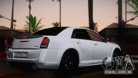 Chrysler 300 SRT8 Black Vapor Edition para GTA San Andreas esquerda vista