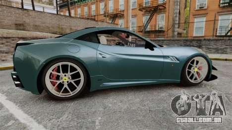 Ferrari California para GTA 4 esquerda vista