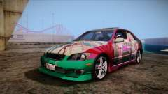 Toyota Altezza Sakura Miku Itasha para GTA San Andreas
