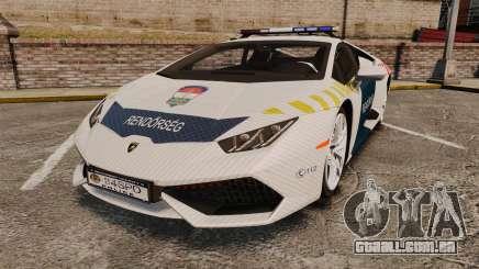 Lamborghini Huracan Hungarian Police [ELS] para GTA 4