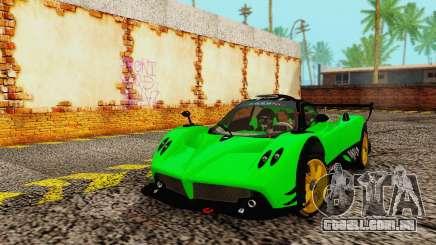 Pagani Zonda Type R Green para GTA San Andreas