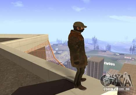 Aiden Pearce para GTA San Andreas terceira tela