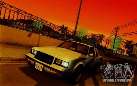 ENBSeries para PC fraco v2 [SA:MP] para GTA San Andreas por diante tela
