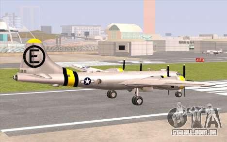B-29A Superfortress para GTA San Andreas esquerda vista