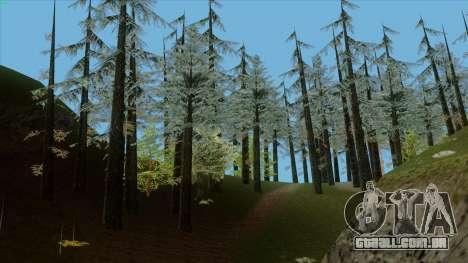 A densa floresta v2 para GTA San Andreas por diante tela