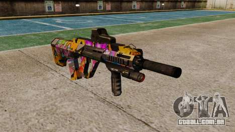 Автомат Steyr AUG-A3 Óptica Graffitti para GTA 4