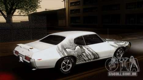 Pontiac GTO The Judge Hardtop Coupe 1969 para GTA San Andreas vista inferior