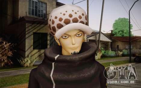 One Piece Trafalgar Law para GTA San Andreas terceira tela
