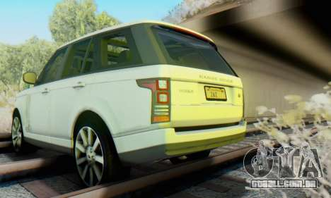 Range Rover Vogue 2014 V1.0 Interior Nero para GTA San Andreas vista interior