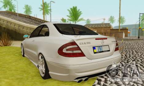 Mercedes-Benz CLK55 AMG 2003 para as rodas de GTA San Andreas