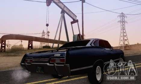 Chevrolet Impala 1967 Supernatural para GTA San Andreas esquerda vista