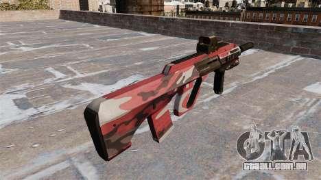 Máquina de Steyr AUG-A3 Vermelho urbana para GTA 4 segundo screenshot