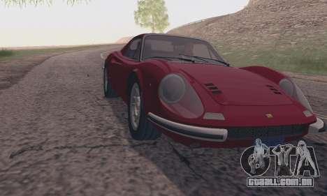 Ferrari Dino 246 GTS Coupe para GTA San Andreas traseira esquerda vista