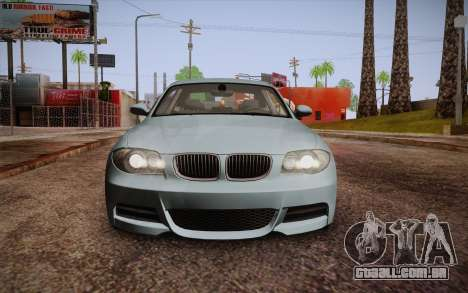BMW 135i Limited Edition para GTA San Andreas vista superior