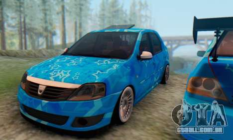 Dacia Logan Blue Star para GTA San Andreas vista interior