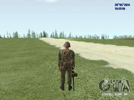 O lutador do exército russo para GTA San Andreas oitavo tela