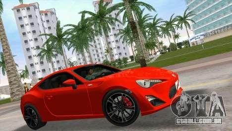 Toyota GT86 para GTA Vice City vista direita