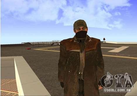 Aiden Pearce para GTA San Andreas quinto tela
