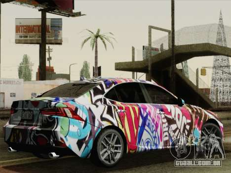 Lexus IS350 FSPORT Stikers Editions 2014 para GTA San Andreas esquerda vista