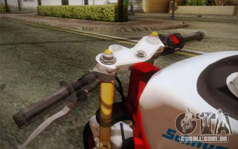 Kawasaki Zx6r Ninja para GTA San Andreas vista direita