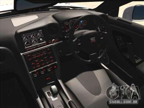 Nissan GTR-R35 Spec-V para GTA San Andreas vista interior