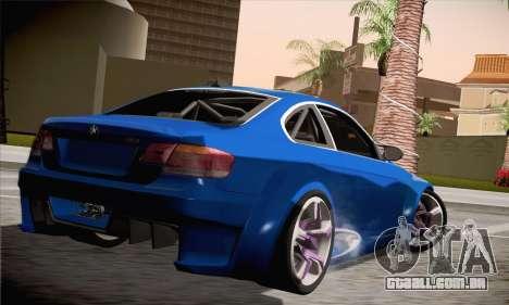 BMW M3 E92 SHDru Tuning para GTA San Andreas esquerda vista
