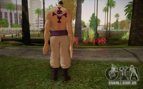 One Piece Whitebeard Edward Newgate para GTA San Andreas segunda tela