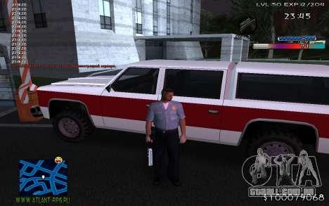 С-HUD Adidas para GTA San Andreas terceira tela