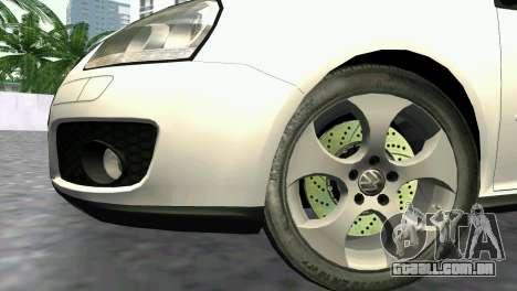 Volkswagen Golf V GTI para GTA Vice City vista direita