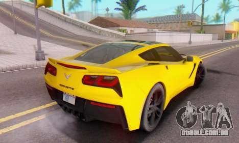 Chevrolet Corvette Stingray C7 2014 para GTA San Andreas vista superior