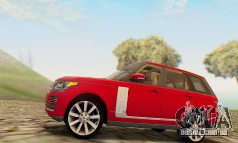 Range Rover Vogue 2014 V1.0 UK Plate para GTA San Andreas vista direita