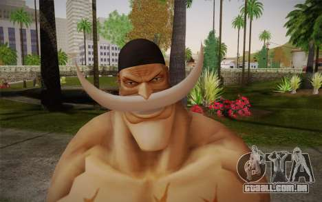 One Piece Whitebeard Edward Newgate para GTA San Andreas terceira tela
